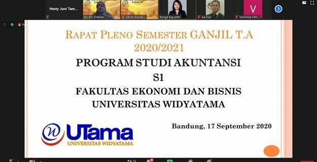 Rapat Pleno Semester Ganjil Tahun Akademik 2020/2021